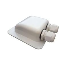 Dakdoorvoer dubbele kabel wit
