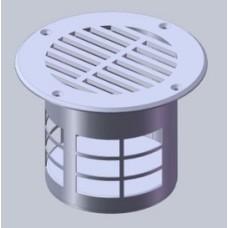 Ventilatierooster vloer RVS dia 132 mm
