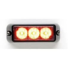 TIR3 LED Flitser, Amber, Horizontale montage