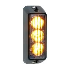 TIR3 LED Flitser, Amber, Verticale montage