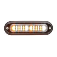T-ION DUO LED Flitser, Rood/Wit, Oppervlakte montage, Ultralaag profiel
