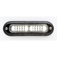 T-ION LED Flitser, Wit, Oppervlakte montage, Ultralaag profiel