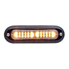 T-ION LED Flitser, Amber, R65 KL1, Oppervlakte montage, Ultralaag profiel